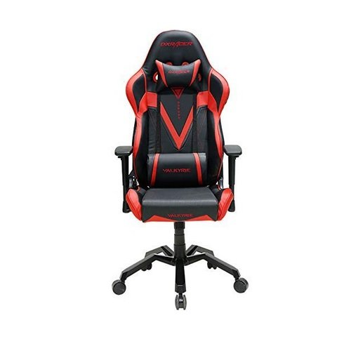 Swell Dxracer Valkyrie Series Gaming Chair Black Red Andrewgaddart Wooden Chair Designs For Living Room Andrewgaddartcom